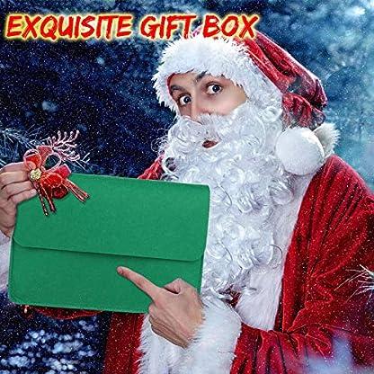 HQKJ Árbol de Navidad del Fieltro de DIY, Regalo Favorito de Navidad para Niños Pequeños 26 Piezas de Adornos en una Exquisita Caja, Adornos Navideños para Colgar en la Pared