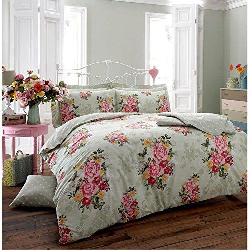 Diseño Vintage con diseño de muñeca y mariposa! Funda de edredón y de flores y pájaros de diseño de mariposas - ropa de cama Reversible