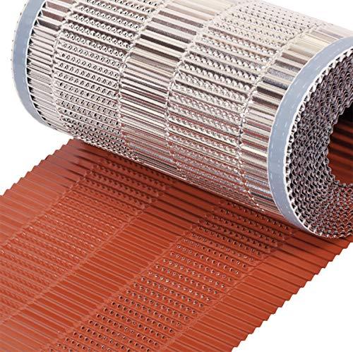 Closoir de faîtage souple ventilé tout aluminium 400 mm X 10 ml ROUGE