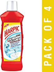 Harpic Bathroom Cleaning Liquid, Floral, 500 ml (Pack of 4)