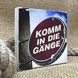 Hamburg auf Holz - *Komm in die Gänge* - 10x10 cm - Holzbild, Wandbild, Landhausstil, Shabby Chic, Vintage, Bilder, Motive, Hamburg, Geschenkidee, Souvenir, Deko