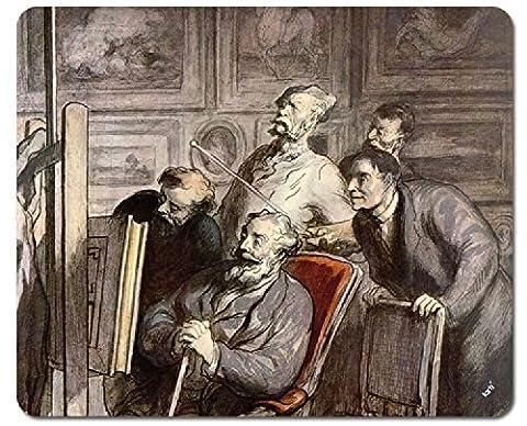Honoré Daumier Tapis De Souris - Les Amateurs Des Beaux-Arts, Vers 1862 (23 x 19 cm)