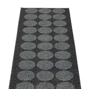 Pappelina hugo tapis 70 x 160 cm-métal-noir