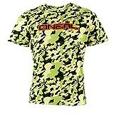 O'Neal PILEDRIVER CAMOUFLAGE Grün T-Shirt Basic Sport Freizeit Basic Herren Damen Rundhals MX DH, 1012CL-5, Größe Medium