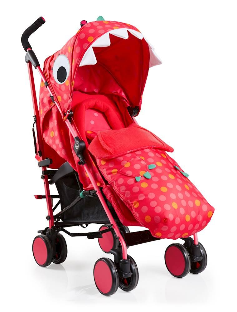 Cosatto Supa 2018 Baby Stroller, Suitable from Birth to 25 kg, Miss Dinomite Cosatto Suitable from birth up to 25 kg stroller; umbrella fold lightweight aluminium chassis with carry handle and folded free-standing feature For added comfort Supa 2018 has an integral upf100+ extended hood; one handed four position seat recline and adjustable calf support Supa 2018 has everything you need: Spacious storage basket, co-ordinating fleece lined footmuff, reversible washable liner, chest pads and recent born head hugger, rain cover and handy cup holder 1