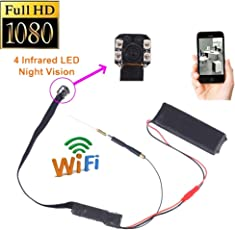 martialart Mini Kameras, HD 1080P Wifi Spy Camera Wireless Hidden Camera Home Security Nanny Cam mit Nachtsicht/Motion Detection für Home Office