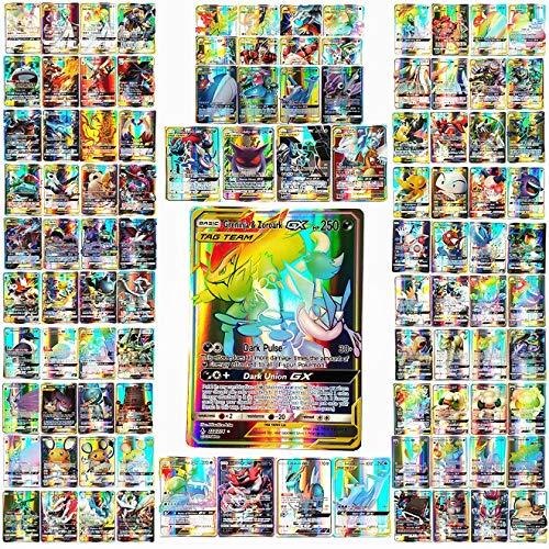 100 Piezas (44 Tarjetas Tag Team 56 Tarjetas GX Raras)...