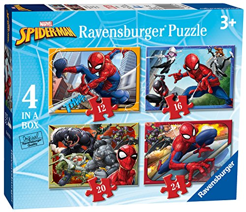 Marvel Spiderman Spielzeug (Ravensburger UK 6915Marvel Spider-Man 4in Box Puzzle)