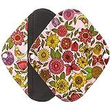Pad culotte menstruelle, Ularma Réutilisable en bambou Charocoal lavable tampon menstruel Mama serviette hygiénique
