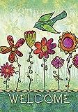 Home Garden Beste Deals - Toland Home Garden Schicke Blüten, Bunt