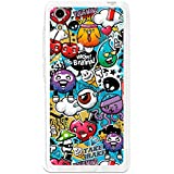 BeCool - Funda Gel Flexible Cubot X9 Grafiti de Colores Divertido Carcasa Case Silicona TPU Suave