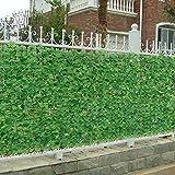 [neu.haus] Siepe artificiale con foglie (150 x 300 cm) Protezione visiva / Recinzione per balconi / Protezione in PVC