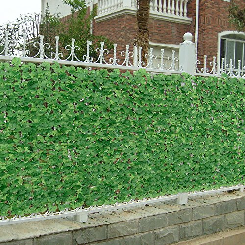 [neu.haus] Blätterzaun (150 x 300 cm) Sichtschutz / Balkon Umspannung / PVC Sichtschutz