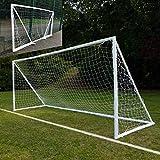 QUICKPLAY Q-Fold | Das Faltbare, innerhalb von 30 Sekunden aufstellbare Fußballtor für den Garten [Einzeltor] wetterfeste Fußballnetz für Kinder und Erwachsene - 2 Jahre GARANTIE 2019
