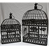 Moritz® Maceta jaula jaula decorativa pájaro jaula Pareja de pájaros Shabby Antiguo Estilo Antiguo Marrón Rectangular vk4rh de AB