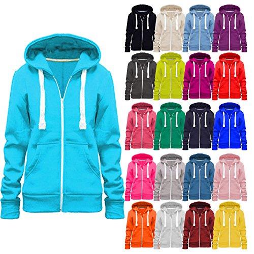 Vanilla Inc© New Plus Size Hoodie Ladies Womens Zip Zipper Hooded Jacket Coat Top Hoody 8-28