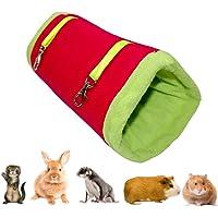 TAIYO PLUSS DISCOVERY® Tunnel Hammock//Hammock Bed Tunnel Shape Nest for Sugar Glider, Ferret, Hamster, Rat, Guinea Pig…