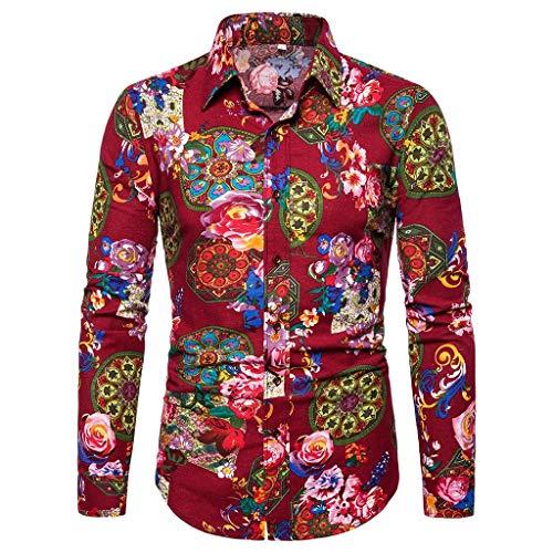 REALIKE Herren Kurzarm T-Shirt Geschäft Freizeithemd Knopfleiste Mehrfarbig Luxuriös Blumen Tops Freizeithemd Rundhals Slim Fit für Fitness Rundhals Party Bluse Größe M-5XL Oberteil -