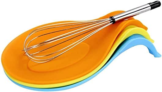 Küche Hitzebeständige Löffel Rest Kochgeschirr Rack Mat Spatel Holder Tool-WI