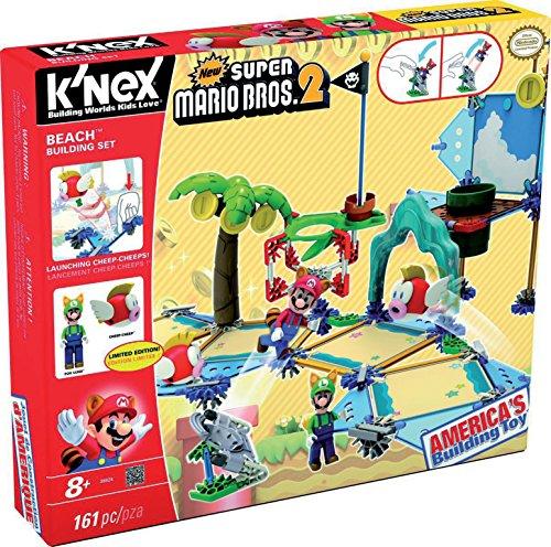 K'NEX Super Mario - Deluxe Beach Construction Set, 161 Parts (41013 Toy Factory)