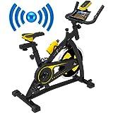 Nero Sports Bluetooth upprätt motionscykel inomhus studiocykler aerobisk träning fitness konditionscykel 12 kg snurrande svän