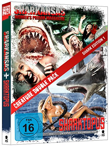 Creature Double Pack - SHARK Edition 1: Sharktopus & Sharkansas Women's Prison Massacre (2-Disc Set)