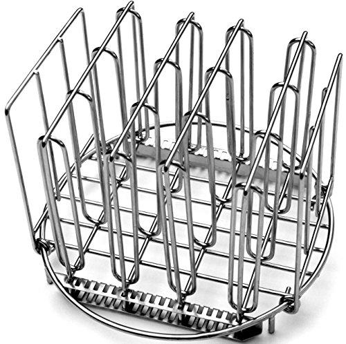 LIPAVI Sous Vide Rack R20 - Rejilla profesional para cocinar al vacío   Accesorios para cocedor de acero inoxidable 316L   plegable y ajustable Redondo, Diámetro: 20,3 cm Altura 16,7 cm
