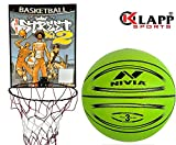 Klapp Basketball Board With Nivia Basketball, Colour May Vary (3)
