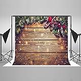 KateHome PHOTOSTUDIOS 3x2m Weihnachten Foto Hintergrund Holz Weihnachts Foto Hintergrund Weihnachten Dekorationen Hintergrund Fotografie