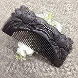 Alta calidad sin asas lotus tallada peine peine de palo de rosa violeta