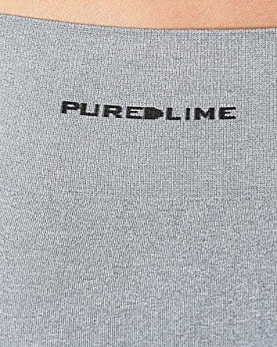 Pure Lime Seamless Women's Capri Course à Pied Collants Gris