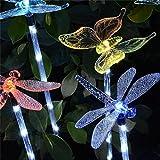 Solar-Gartenleuchten, 6-Pack-Solar-Garten-Stake Light, Multi-Farbwechsel Solarbetriebene Dekorative Landschaft Beleuchtung Kolibri-Schmetterling Dragonfly Für Outdoor-Pfad, Hof, Rasen, Terrasse