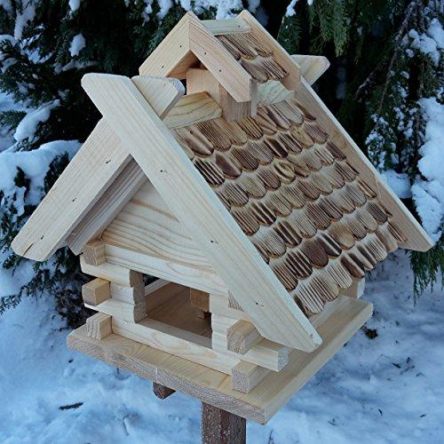 Vogelhaus Schreinerarbeit Futterhaus Vogelhäuschen --Wetterschutz-- K Block Natur Holz Vogelhäuser Vogelfutterhaus