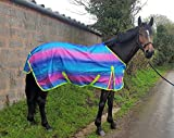 Leicht Rainbow Standard Pferdedecke/Regendecke–kein Füllen alle Größen Regenbogen 145 cm
