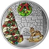 Power Coin Holiday Wreath Kranz Murano Christmas 1 Oz Silber Münze 20$ Canada 2019