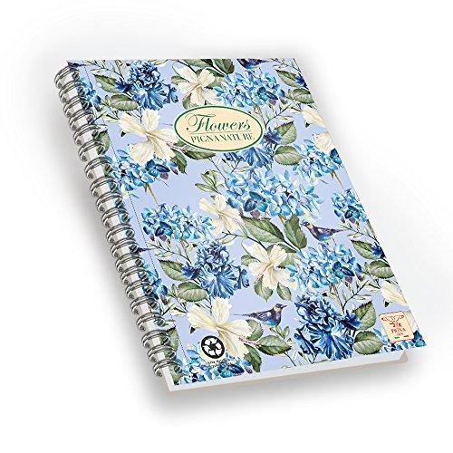 Pigna nature flowers quaderno con spirale, f.to a4 ,  confezione da 5 pezzi