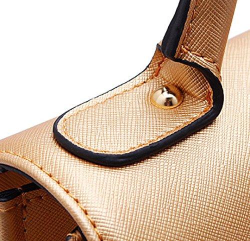 ZPFME Womens Handtasche Rindsleder Handtasche Damen Tasche Mädchen Party Retro Damen Mode Große Tasche Mode OneColor