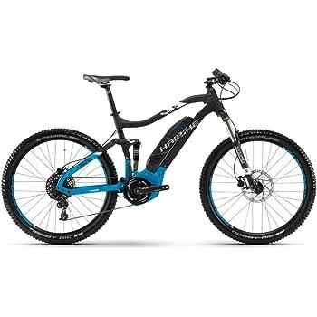 Bicicleta de montaña Haibike Sduro fullseven 5.0, colornegro / azul / blanco mate, modelo 2018, color Schwarz/Blau/Weiß matt, tamaño 48 cm, tamaño de rueda 27.50
