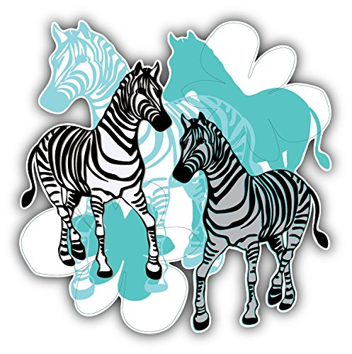 Zebra Label Animal Art Decor Vinyl Sticker Aufkleber 12 x 12 cm (Zebra-auto Aufkleber)