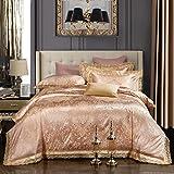 Beddingleer 4 pezzi Floreale 100% Cotone  Set di Biancheria da Letto Matrimoniali 200*230cm Includere 1 pc Copripiumino 1 pc Lenzuolo2 pcs Federe
