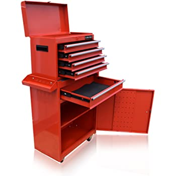 us pro tools red ball bearing tool chest box rollcab roller cabinet ...