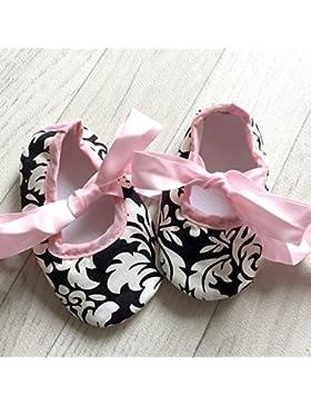 Bailarinas para bebé de 0 a 12 meses, diseño de motivo barroco 3/6 meses, 6/9/0 meses, 3 meses, 9/12 meses