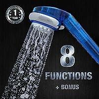 Soffione per doccia con filtro per acqua, spruzzatore con 8