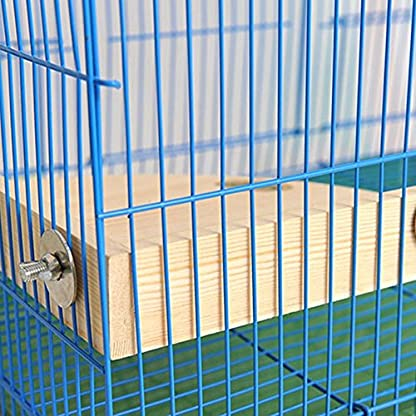 XMSSIT Bird Platform Perch Stand Wood for Small Animals Parrot Parakeet Conure Cockatiel Budgie Gerbil Rat Mouse Chinchilla Hamster Cage Accessories Exercise Toys Sector 6