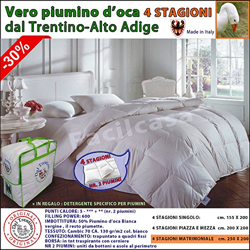 Daunendecke 4 Jahreszeiten, Gänsedaunen, Größen Doppelbett, Einzelbett, französisches Bett, echte Gänsedaunen, 2Daunendecken.