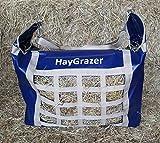 haygrazer BORSA - Fieno Alimentatore per cavalli o PONY PER LENTO alimentazione,previene SPRECHI E NOIA sulla scatola appoggio o Durante da viaggio - blu scuro / Beige