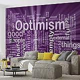 Tapeto Fototapete - Optimismus Worte Abstrakt - Vlies 368 x 254 cm (Breite x Höhe) - Wandbild Sprüche und Zitate