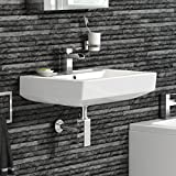Modern Square Ceramic Basin Wall Hung Bathroom Sink CA612FB