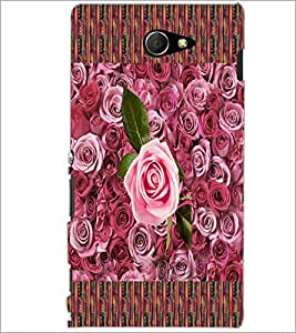 PrintDhaba Roses D-5657 Back Case Cover for SONY XPERIA M2 (Multi-Coloured)