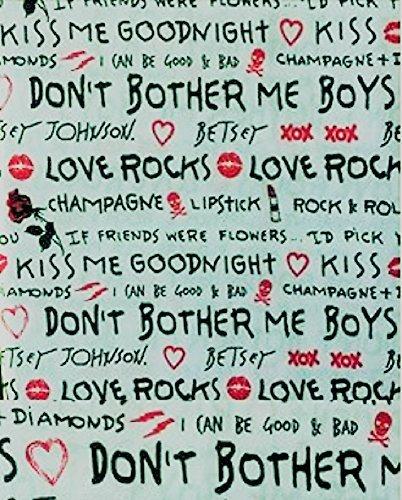 Betsey Johnson 3 PC Twin Sheet Bedding Set Love Rocks (Johnson Rock Betsey)